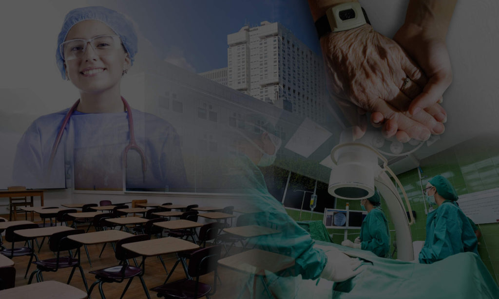 Nurse, building, hands, school, procedure room
